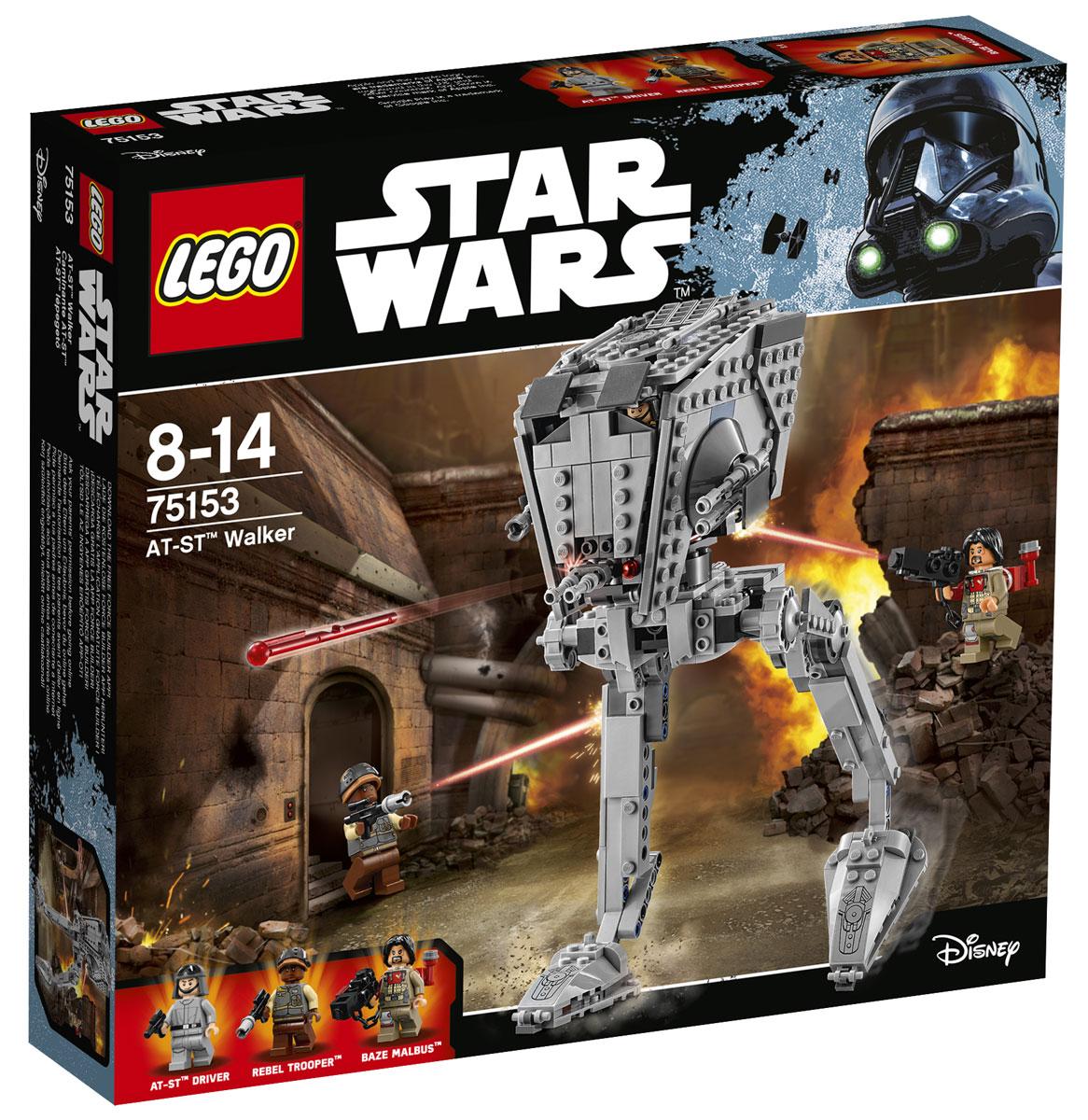 LEGO Star Wars Конструктор Разведывательный транспортный шагоход (AT-ST) 7515375153Запускайте свой разведывательный транспортный вездеход и начинайте охоту на Бейза и повстанца-пехотинца. Откройте крышку верхнего люка, загрузите мини-фигурку водителя AT-ST и скорее принимайтесь за дело. После того как обнаружите врагов, поверните руль, чтобы навести на них пружинные пушки, и открывайте огонь! Смогут ли Бейз и пехотинец скрыться от приближающегося AT-ST? Этот выбор придется сделать вам. Набор включает в себя 449 пластиковых элементов. Конструктор - это один из самых увлекательных и веселых способов времяпрепровождения. Ребенок сможет часами играть с конструктором, придумывая различные ситуации и истории.