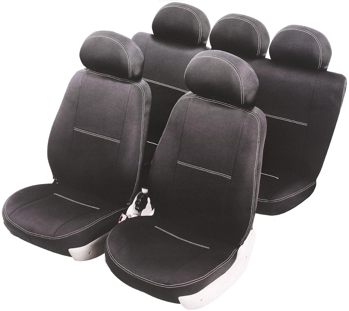 Чехлы автомобильные Azard Standard, для Renault Logan 2004-2013 седан, 8 предметовA4013571Модельные чехлы из полиэстера Azard Standard. Разработаны в РФ индивидуально для каждого автомобиля. Чехлы Azard Standard серийно выпускаются на собственном швейном производстве в России. Чехлы идеально повторяют штатную форму сидений и выглядят как оригинальная обивка сидений. Для простоты установки используется липучка Velcro, учтены все технологические отверстия. Чехлы сохраняют полную функциональность салона - трансформация сидений, возможность установки детских кресел ISOFIX, не препятствуют работе подушек безопасности AIRBAG и подогрева сидений. Дизайн чехлов Azard Standard приближен к оригинальной обивке салона. Декоративная контрастная прострочка по периметру авточехлов придает стильный и изысканный внешний вид интерьеру автомобиля. Чехлы Azard Standard изготовлены из полиэстера, триплированного огнеупорным поролоном толщиной 3 мм, за счет чего чехол приобретает дополнительную мягкость. Подложка из спанбонда сохраняет свойства поролона и предотвращает его разрушение. ...