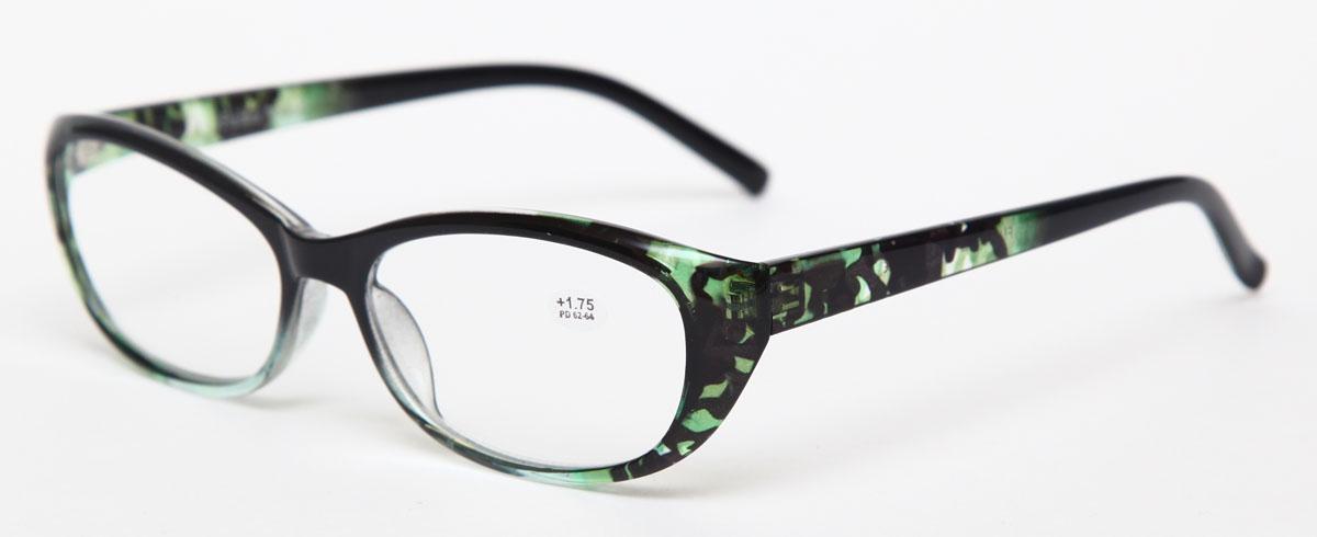 Proffi Home Очки корригирующие (для чтения) 729 Fabia Monti +1.75, цвет: зеленый
