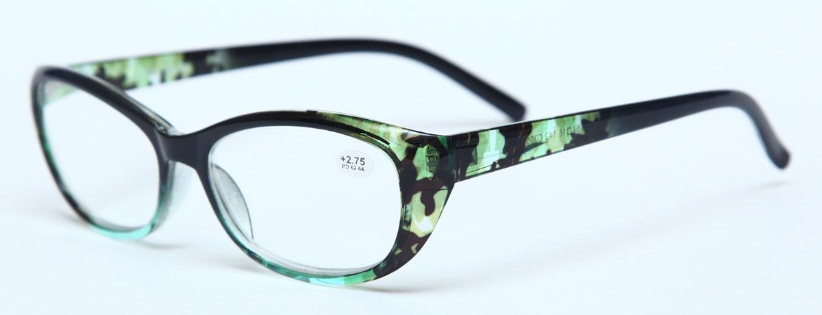 Proffi Home Очки корригирующие (для чтения) 729 Fabia Monti +2.75, цвет: зеленый