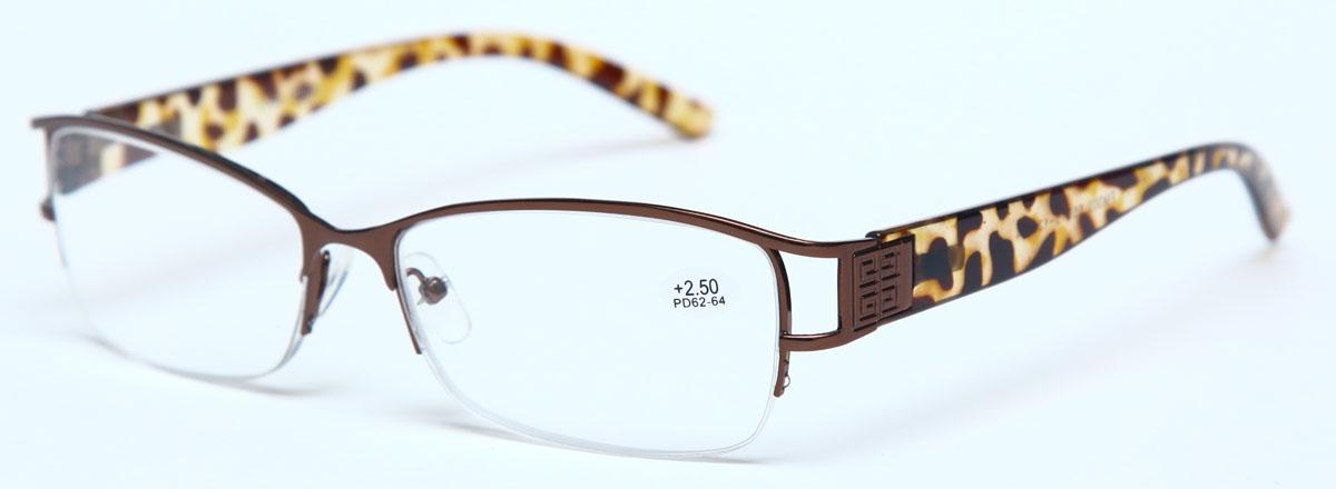 Proffi Home Очки корригирующие (для чтения) 302 Fabia Monti +2.50, цвет: коричневый