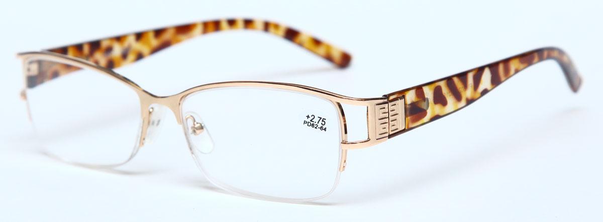 Proffi Home Очки корригирующие (для чтения) 302 Fabia Monti +2.75, цвет: золотойPH7367Надев эти очки, вы сможете четко видеть пространство впереди себя. Они удобны при чтении. Оправа очков легкая и не создает никакого дискомфорта.
