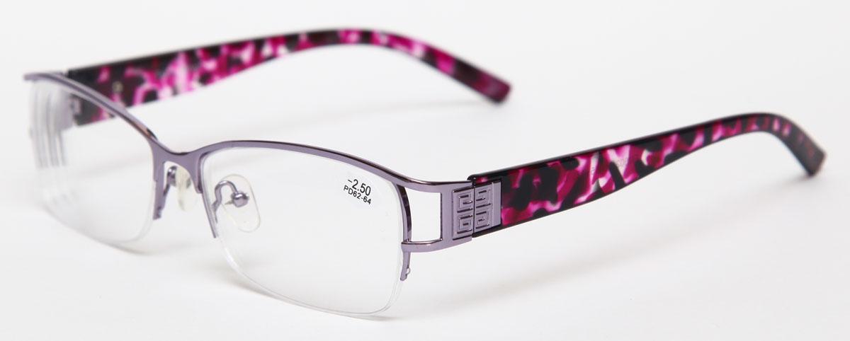 Proffi Home Очки корригирующие 302 Fabia Monti -2.50, цвет: серыйPH7375Надев эти очки, вы сможете четко видеть пространство впереди себя. Они удобны при чтении. Оправа очков легкая и не создает никакого дискомфорта.