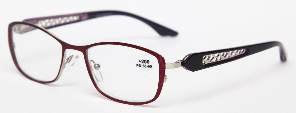 Proffi Home Очки корригирующие (для чтения) 827 Fabia Monti +2.00, цвет: фиолетовыйPH7426Надев эти очки, вы сможете четко видеть пространство впереди себя. Они удобны при чтении. Оправа очков легкая и не создает никакого дискомфорта.