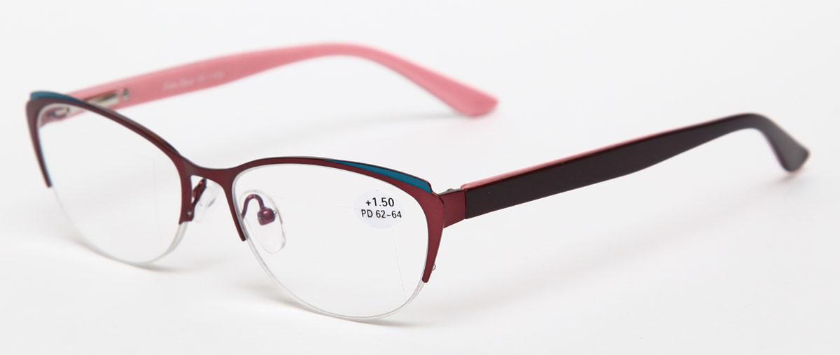 Proffi Home Очки корригирующие (для чтения) 830 Fabia Monti +1.50, цвет: бордовый