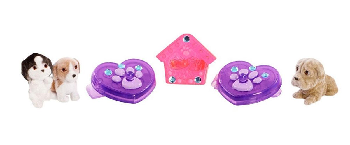 Puppy In My Pocket Набор фигурок и украшений цвет розовый фиолетовый 6 шт 48120-R