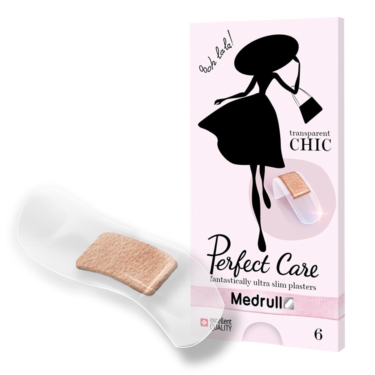 Medrull Набор пластырей Perfect Care, №64742225003362Идеально прозрачные пластыри, которые помогут защитить рану и будут практически незаметны на Вашей коже. Удобная и красивая упаковка, небольшого размера, не займет много места в Вашей сумочке. Пластыри изготовлены из тонкого, эластичного, прозрачного, полимерного, приятного для кожи материала. Свойства пластыря: водонепроницаемые, грязенепроницаемые, гипоаллергенные, эластичные, плотно прилегающие. Абсорбирующая подушечка изготовлена из вискозы и обладает высокой впитываемостью. Верхняя часть подушечки обработана полипропиленом, что защищает от вероятности прилипания пластыря к поврежденной поверхности кожи.