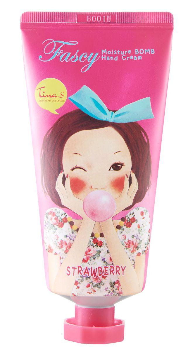 Fascy Увлажняющий крем для рук Moisture Bomb Hand Cream с экстрактом клубники, 80 мл
