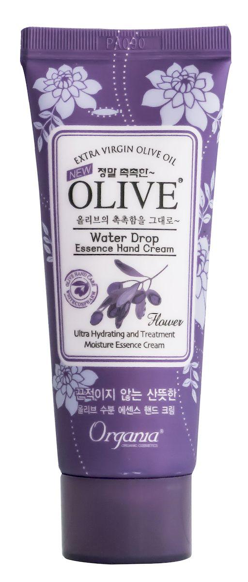 Whitecospharm Увлажняющий крем для рук и кутикулы Organia Waterdrop с маслом оливы, 35 мл