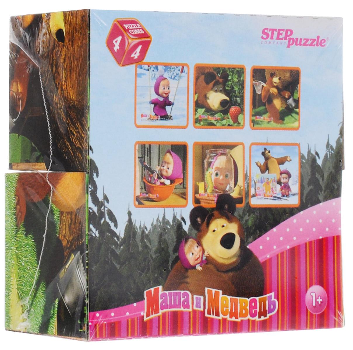 Step Puzzle Кубики Маша и Медведь 8713287132С помощью четырех кубиков Step Puzzle Маша и Медведь ребенок сможет собрать целых шесть красочных картинок с изображением героев из одноименного мультсериала. Кубики - самая популярная и самая необходимая игрушка для малыша. Наборы из 4-х кубиков специально разработаны для самых маленьких. Игра с кубиками развивает зрительное восприятие, наблюдательность и внимание, мелкую моторику рук и произвольные движения. Ребенок научится складывать целостный образ из частей, определять недостающие детали изображения. Это прекрасный комплект для развлечения и времяпрепровождения с пользой для малыша.