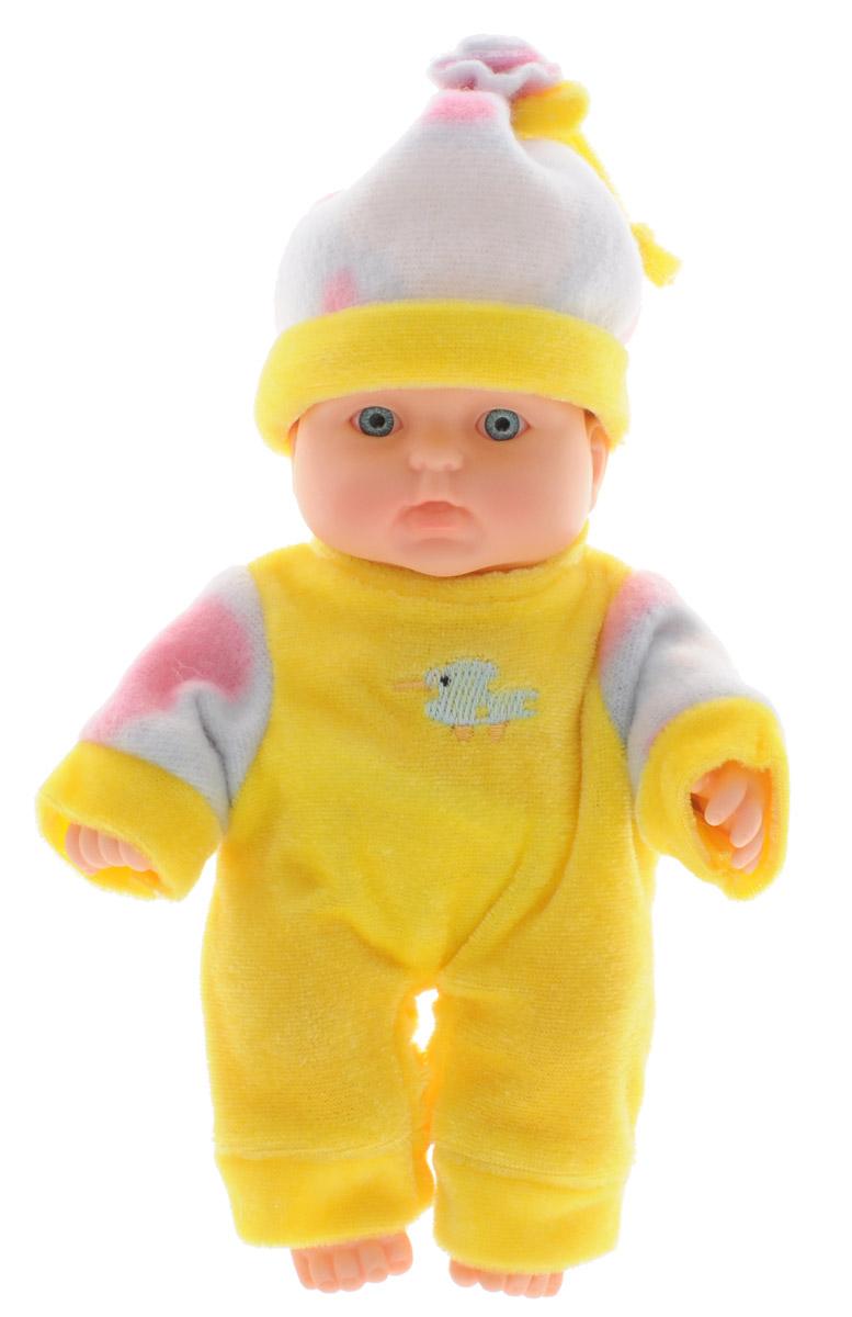 Весна Пупс Карапуз цвет одежды желтыйВ2196Пупс Весна Карапуз покорит сердца не только детей, но и их родителей. Кроха выглядит как настоящий младенец с милым личиком и пухлыми щечками. Пупс одет в яркий наряд и шапочку. Обаятельный внешний вид и прелестная одежда вызывают только самые добрые и положительные эмоции. Тело малютки выполнено из прочного и качественного материала, приятного на ощупь, ее так и тянет обнять и прижать к себе. Куклу можно купать, сажать, укладывать спать и переодевать. Игра с очаровательными малютками поможет развить мелкую моторику, а возможность менять костюмчики формирует эстетический вкус. Милая игрушка станет лучшей подружкой для девочки и научит ребенка доброте и заботе о близких.