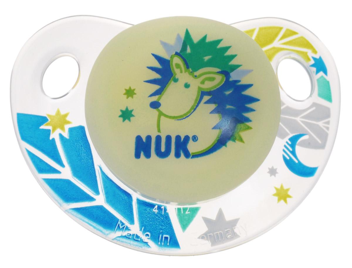 NUK Пустышка латексная для сна Ежик ортодонтическая от 0 до 6 месяцев