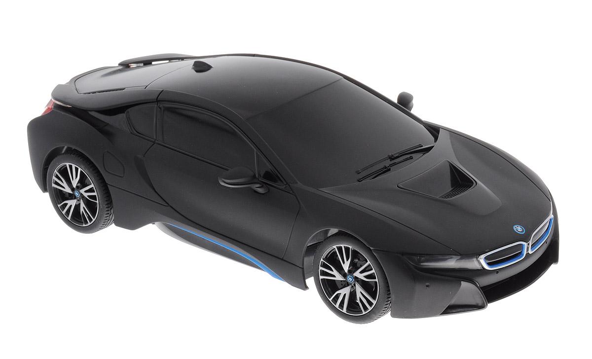 Rastar Радиоуправляемая модель BMW i8 цвет черный масштаб 1:1859200_черныйРадиоуправляемая модель Rastar BMW I8 - отличный подарок для вашего мальчика! Предназначена для всех, кто любит роскошь и высокие скорости. Автомобиль обладает неповторимым провокационным стилем и спортивным характером. Потрясающая маневренность, динамика и покладистость - отличительные качества этой модели. Возможные движения: вперед, назад, вправо, влево. Имеются световые эффекты. Пульт управления работает на частоте 40 MHz. Радиоуправляемые игрушки способствуют развитию координации движений, моторики и ловкости. Ваш ребенок увлеченно будет играть с моделью, придумывая различные истории и устраивая соревнования. Порадуйте его таким замечательным подарком! Для работы модели необходимо купить 4 батарейки напряжением 1,5V типа АА (не входят в комплект). Для работы пульта управления необходимо купить 2 батарейки напряжением 1,5V типа АА (не входят в комплект).