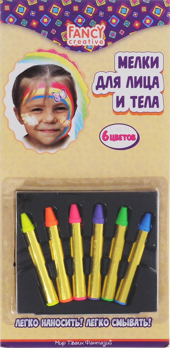 Набор мелков для лица и тела Fancy, 6 шт. FD020207FD020207Набор мелков для лица и тела Fancy непременно понравится вашему малышу и станет для него любимым развлечением в кругу друзей. В набор входят шесть ярких неоновых цветов (розовый, желтый, зеленый, синий, фиолетовый, оранжевый). Они легко наносятся и смываются. Мелки помогут украсить лицо и тело различными рисунками, идеально подойдут для грима на новогодний утренник, карнавал или любой другой детский праздник. Порадуйте вашего ребенка таким замечательным подарком! Уважаемые клиенты! Обращаем ваше внимание на возможные изменения в дизайне упаковки. Качественные характеристики товара остаются неизменными. Поставка осуществляется в зависимости от наличия на складе. Характеристики: Общая масса мелков: 22 г. Размер мелка: 5,7 см х 0,8 см. Размер упаковки: 10,5 см х 21,5 см х 1,3 см. Изготовитель: Китай.