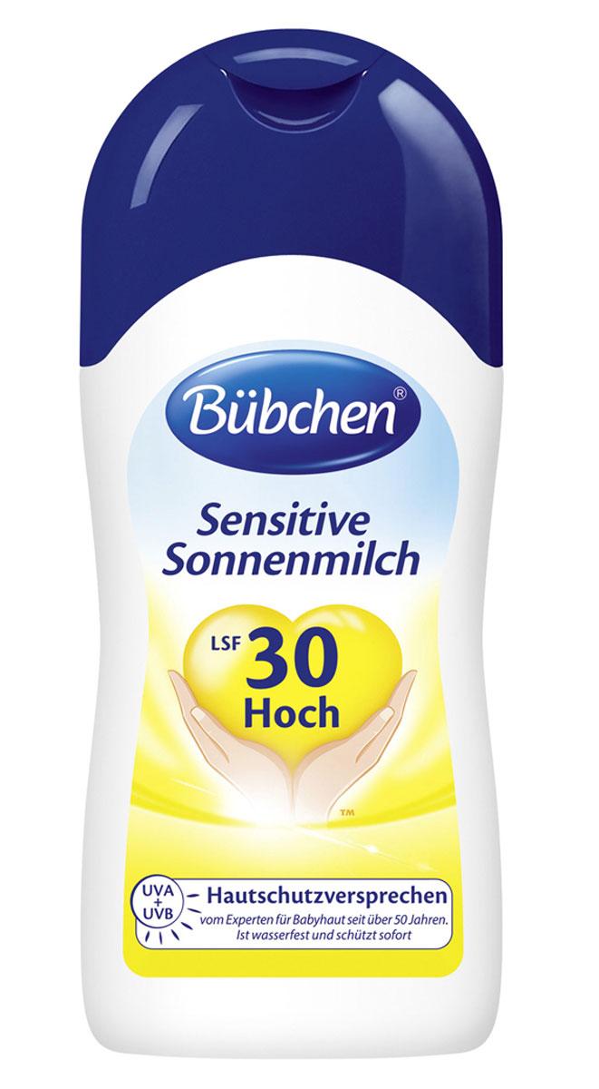 Bubchen Солнцезащитное молочко для младенцев с чувствительной кожей, SPF 30+, 150 мл