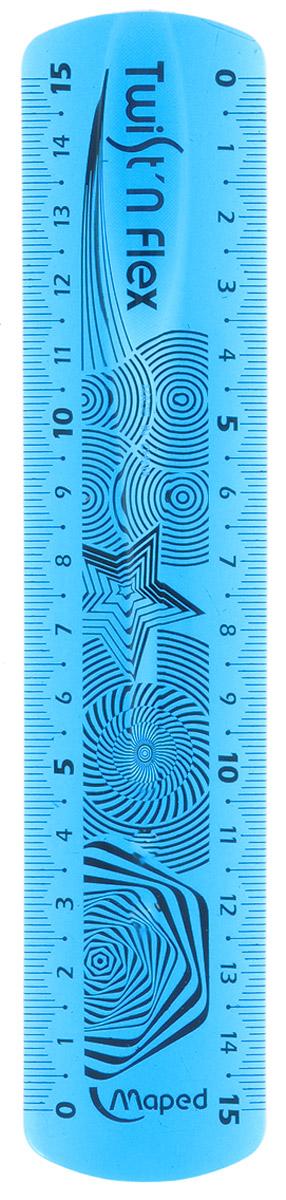 Линейка Maped Twistnflex, неломающаяся, 15 см, цвет: голубой279110Линейка Maped Twistnflex - это неломающаяся линейка, которую можно сгибать и скручивать неограниченное количество раз. Можно использовать как анти-стресс. Характеристики: Материал: пластик. Размер линейки: 17 см х 3,5 см х 0,2 см.
