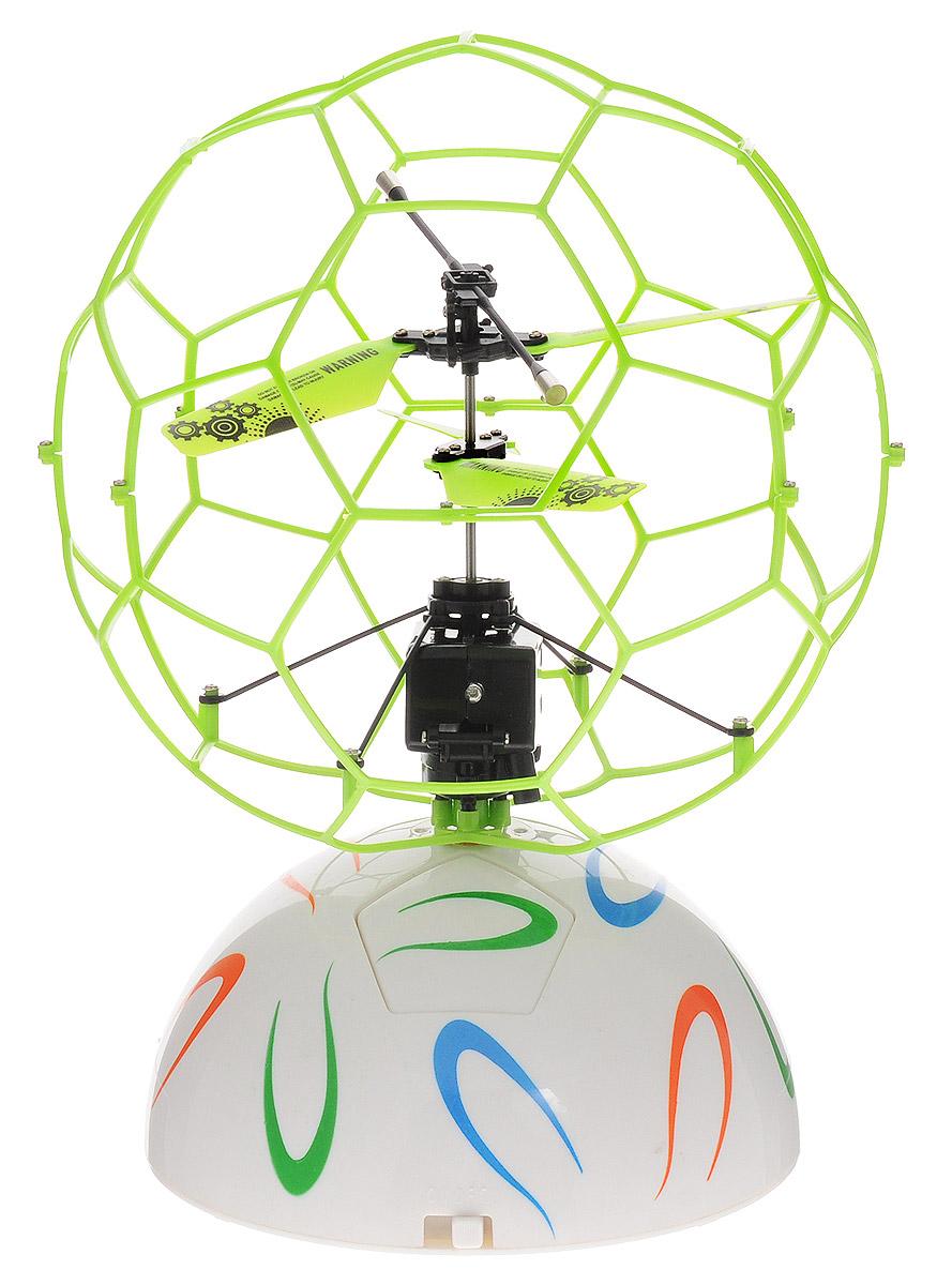 ABtoys Летучий шар на радиоуправлении цвет салатовыйC-00145(777-337)_салатовыйЛетучий шар на радиоуправлении ABtoys - это винтокрылый летательный аппарат, лопасти которого защищены сеточной сферой. Он автоматически взлетает, зависает в воздухе и набирает высоту, если обнаруживает препятствие на своем пути. Игрушка выполнена из прочного пластика с металлическими элементами. Двойной пропеллер обеспечивает стабильный полет. Время зарядки шара составляет 30 минут, время в полете - 5 минут. Радиус действия составляет 10 метров. Эта увлекательная игрушка понравится не только детям, но и взрослым, и подарит вам множество счастливых мгновений. Игрушка великолепно развивает важные навыки, такие как мышление, наблюдательность, зрительно-моторную координацию. Летучий шар работает от встроенного аккумулятора. Зарядка происходит от платформы или компьютера при помощи USB кабеля (входит в комплект). Платформа работает от 6 батареек напряжением 1,5V типа AA (не входят в комплект).