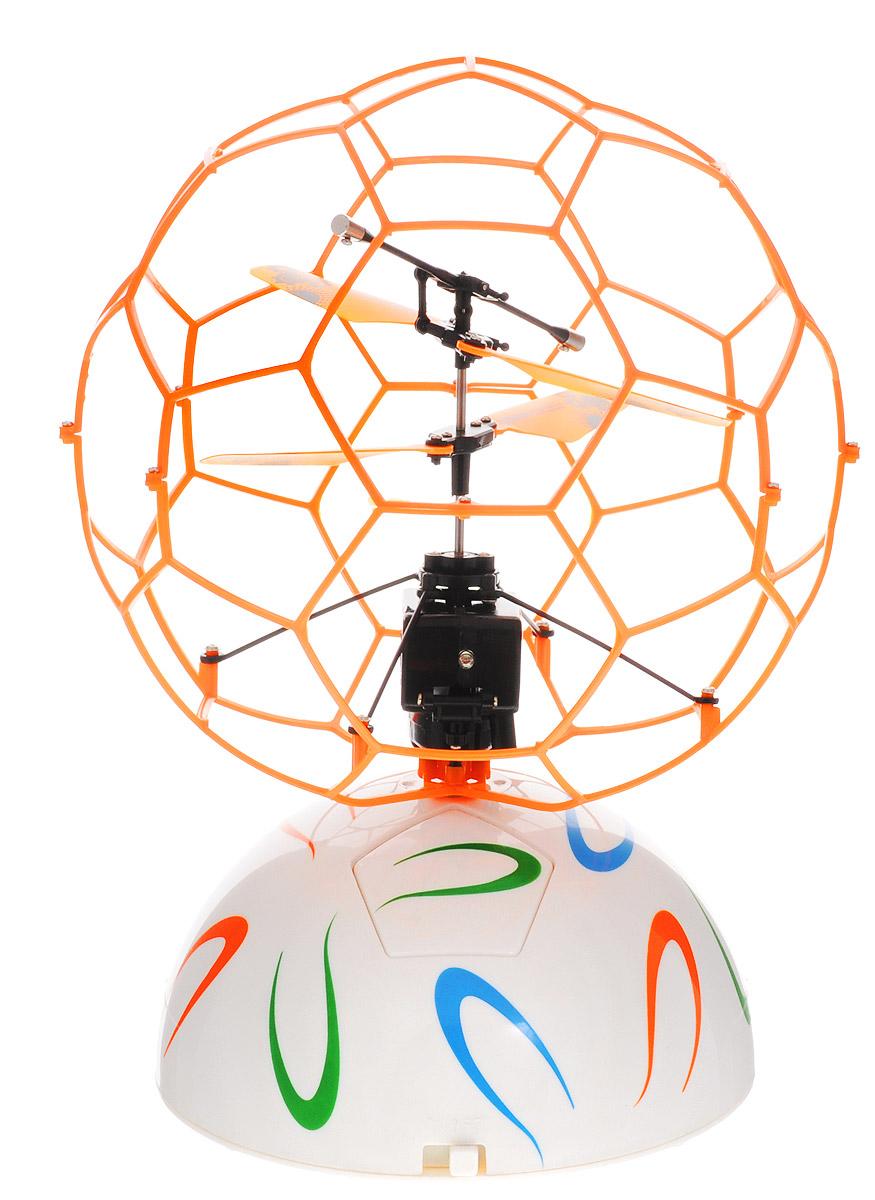 ABtoys Летучий шар на радиоуправлении цвет оранжевыйC-00145(777-337)_оранжевыйЛетучий шар на радиоуправлении ABtoys - это винтокрылый летательный аппарат, лопасти которого защищены сеточной сферой. Он автоматически взлетает, зависает в воздухе и набирает высоту, если обнаруживает препятствие на своем пути. Игрушка выполнена из прочного пластика с металлическими элементами. Двойной пропеллер обеспечивает стабильные полеты. Время зарядки шара составляет 30 минут, время в полете - 5 минут. Радиус действия составляет 10 метров. Эта увлекательная игрушка понравится не только детям, но и взрослым, и подарит вам множество счастливых мгновений. Игрушка великолепно развивает важные навыки, такие как мышление, наблюдательность, зрительно-моторную координацию. Летучий шар работает от встроенного аккумулятора. Зарядка происходит от платформы или компьютера при помощи USB кабеля (входит в комплект). Платформа работает от 6 батареек типа AA (не входят в комплект).