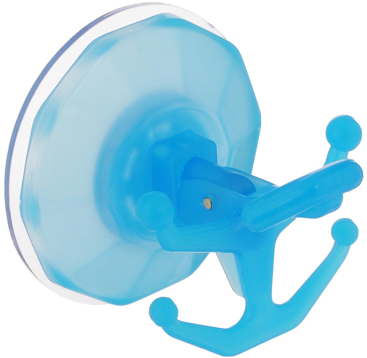 Вешалка настенная Gimi Bingo, на присоске, цвет: голубой, 5 крючков1706050003000_голубойВешалка настенная Gimi Bingo, выполненная из пластика, станет отличным решением для прихожей, ванной или кухни. Вешалка имеет 5 крючков, на которые вы сможете повесить ваши вещи. Прочная присоска надежно крепится к стене и не оставляет разводов и пятен. Практичная настенная вешалка поможет организовать пространство в вашем доме. Особенности вешалки: - успешно работает в интервале температур от -20°С до +60°С; - выдерживает нагрузку до 20 кг; - может служить годами, не требуя перевешивания; - без усилий снимается и перевешивается на новое место.