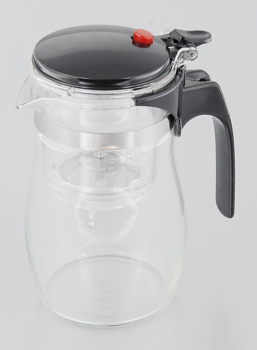 Чайник заварочный Mayer & Boch, с фильтром и клапаном, 750 мл4023Чайник заварочный Mayer & Boch изготовлен из высококачественного термостойкого стекла и пластика. Заварочный чайник удобен в использовании, любой человек, даже не имеющий большого опыта в заваривании чая, сможет заварить в нем чай до правильной консистенции без риска перезаварить чай. При нажатии на кнопку заваренный настой из фильтра переливается в нижнюю часть чайника, процесс заварки останавливается, а чаинки остаются в фильтре. Диаметр чайника (по верхнему краю): 7 см. Высота чайника (с учетом крышки): 17 см.