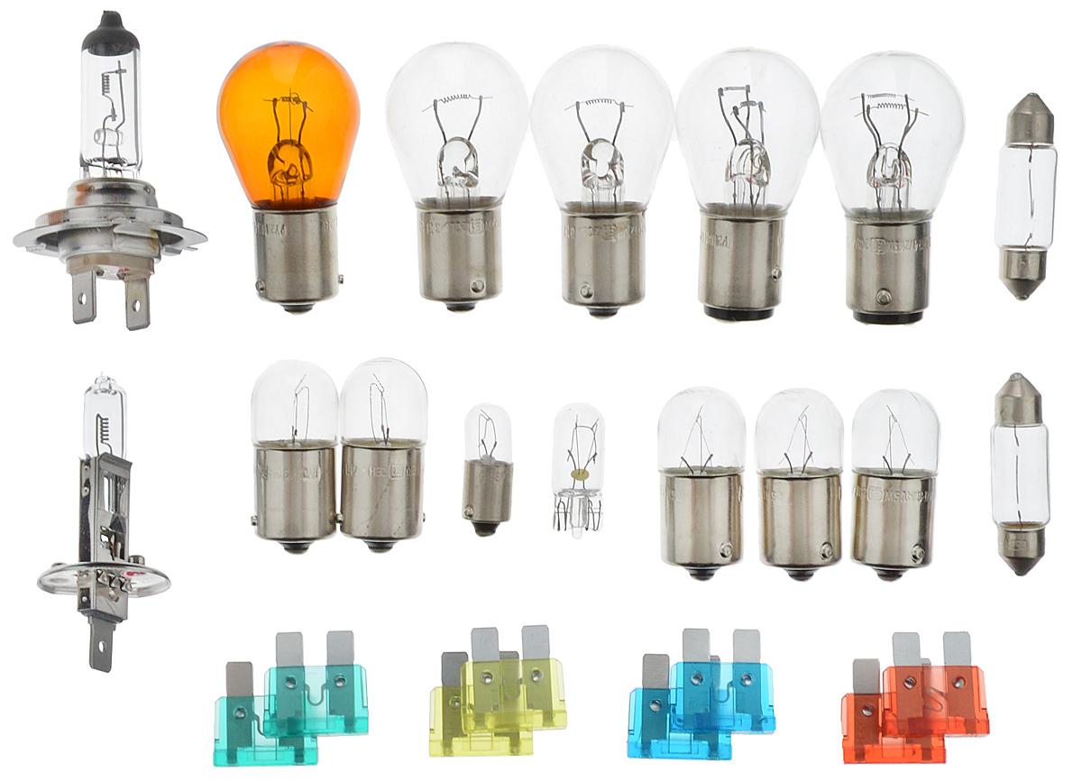 Набор ламп Philips MaxiKit (вибростойкая) MasterDuty для автомобильных фар 24В H1 24V- 70W (P14,5s) + H7 24V- 70W (PX26d). 55561LKMDKM55561LKMDKMЛампы для головного освещения MasterDuty обеспечивают максимальную вибростойкость и долгий срок службы. Эти лампы для головного освещения служат в 2 раза дольше, их вибростойкость увеличена в два раза по сравнению с обычными лампами, представленными на рынке. Лампы MasterDuty отличаются повышенной прочностью крепления цоколя для непревзойденной защиты от механических ударов, а также прочной двойной нитью накаливания, которая выдерживает значительные вибрации. MasterDuty — лучший выбор для водителей, которым нужна продолжительная прочность.