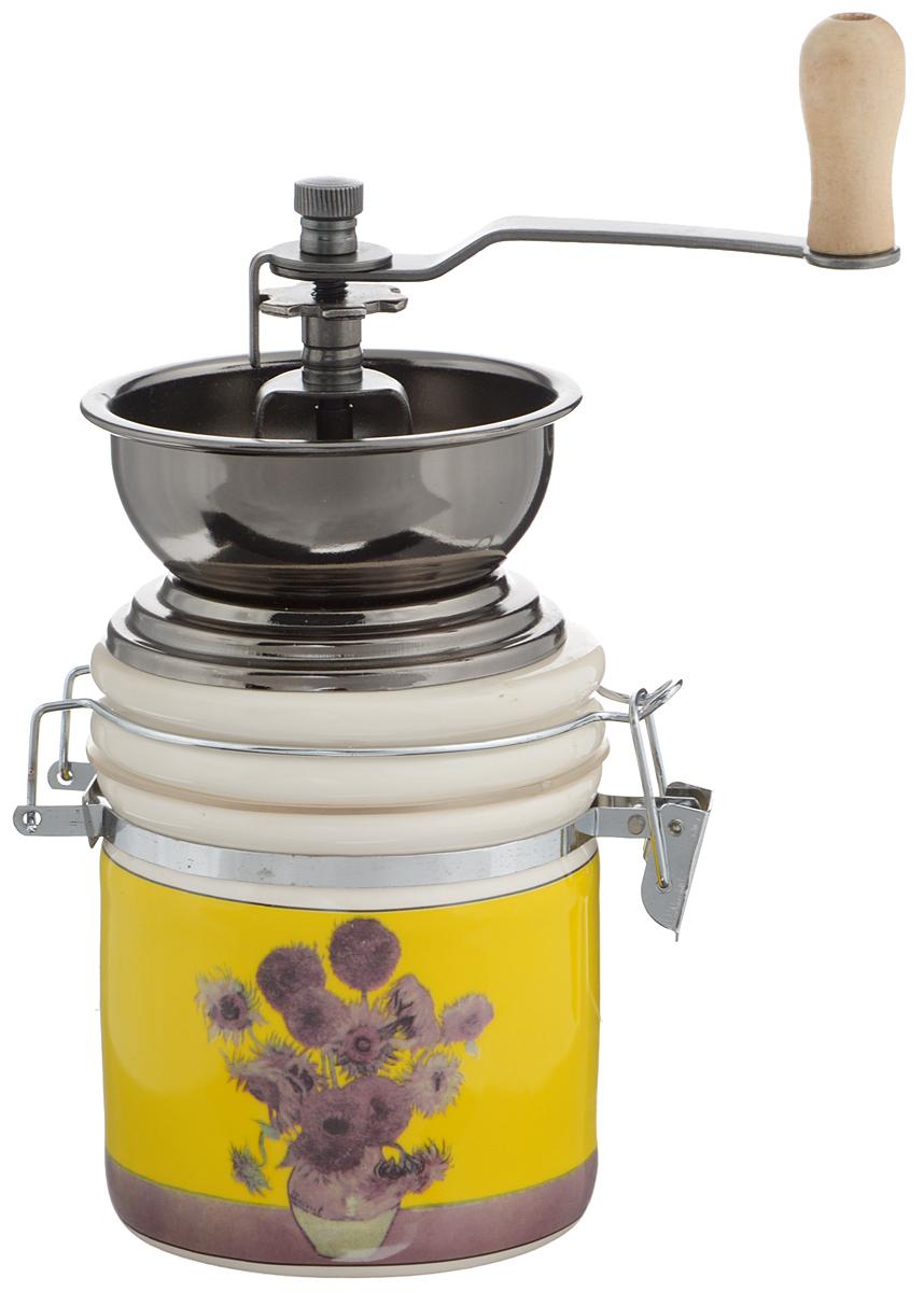 Кофемолка ручная Hua MinKFM-V008Ручная кофемолка Hua Min, выполненная из фарфора и металла, сочетает в себе эстетичность и функциональность. Она оснащена контейнером для молотого кофе и удобной элегантной ручкой для помола, внутренний механизм - стальной. Такая кофемолка станет незаменимым помощником на вашей кухне. Высота кофемолки: 20 см. Диаметр основания: 8 см.