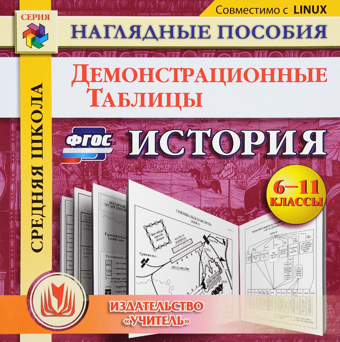 История. 6-11 классы. Демонстрационные таблицы