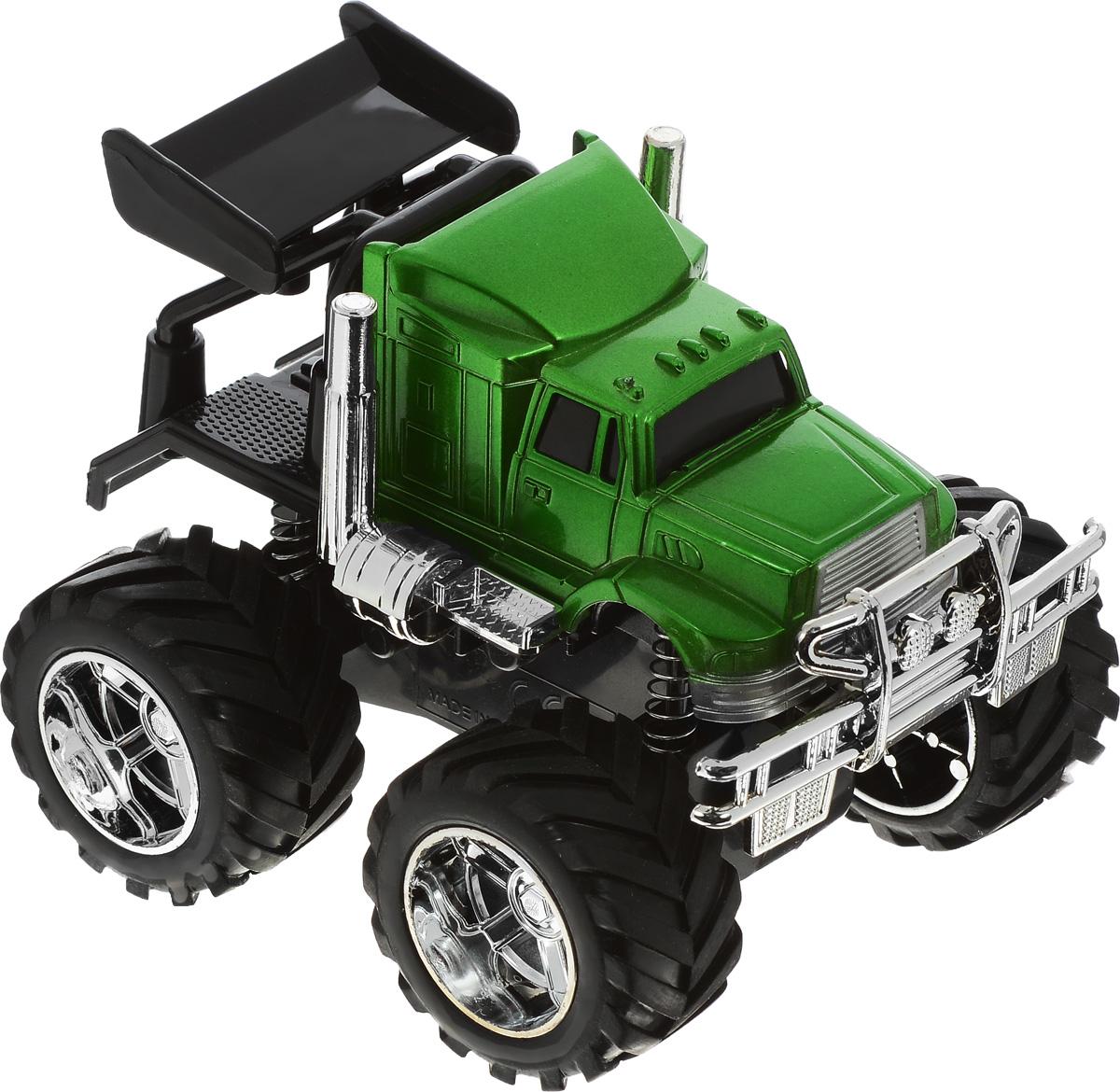 ABtoys Внедорожник инерционный цвет зеленыйC-00173_зеленыйИнерционный джип ABtoys из серии Монстры бездорожья обязательно привлечет внимание вашего ребенка. Игрушка выполнена из прочного пластика в виде мощного внедорожника с большими колесами. Машинка оснащена амортизаторами, усиливающими сходство с настоящим автомобилем. Прорезиненные колеса обеспечивают хорошее сцепление с любой поверхностью пола. Игрушка оснащена инерционным механизмом. Достаточно немного подтолкнуть машинку вперед или назад, а затем отпустить, и она сама поедет в том же направлении. Малыш проведет с этой игрушкой много увлекательных часов, устраивая гонки и придумывая различные истории. Ваш ребенок будет в восторге от такого подарка!
