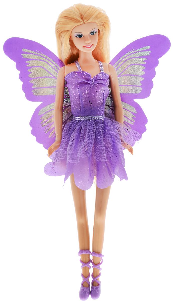 Defa Кукла Butterfly Fairy цвет платья фиолетовый8135d_фиолетовыйВеликолепная кукла Defa Butterfly Fairy обязательно понравится любой девочке и позволит ей погрузиться в сказочный мир волшебства. Очаровательная куколка одета в короткое фиолетовое платье с блестками и юбкой в виде лепестков. Сзади к платью пришиты блестящие голубые крылышки. На ногах у куклы - фиолетовые туфельки с ремешками. Вашей дочурке непременно понравится расчесывать и заплетать длинные волосы куклы. Руки, ноги и голова куклы подвижны, благодаря чему ей можно придавать различные позы. Благодаря играм с куклой ваша малышка сможет развить фантазию и любознательность, овладеть навыками общения и научиться ответственности.