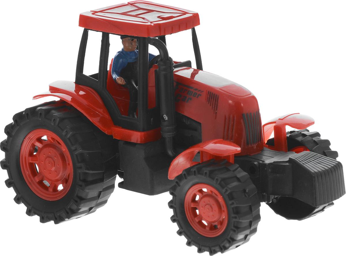 Junfa Toys Трактор инерционный цвет красный798-A11_красныйИнерционный трактор Junfa Toys станет отличным подарком на любой праздник. Игрушка выполнена из прочных и безопасных для ребенка материалов. Пластиковые колеса хорошо прокручиваются без какого-либо торможения и проскальзывания. В кабине трактора сидит тракторист. Трактор оснащен инерционным механизмом, что сделает игру еще интереснее. Чтобы он самостоятельно поехал вперед, поставьте его на ровную поверхность, слегка подтолкните вперед или назад, а затем отпустите, и он сам поедет в том же направлении. Порадуйте своего ребенка такой замечательной игрушкой.