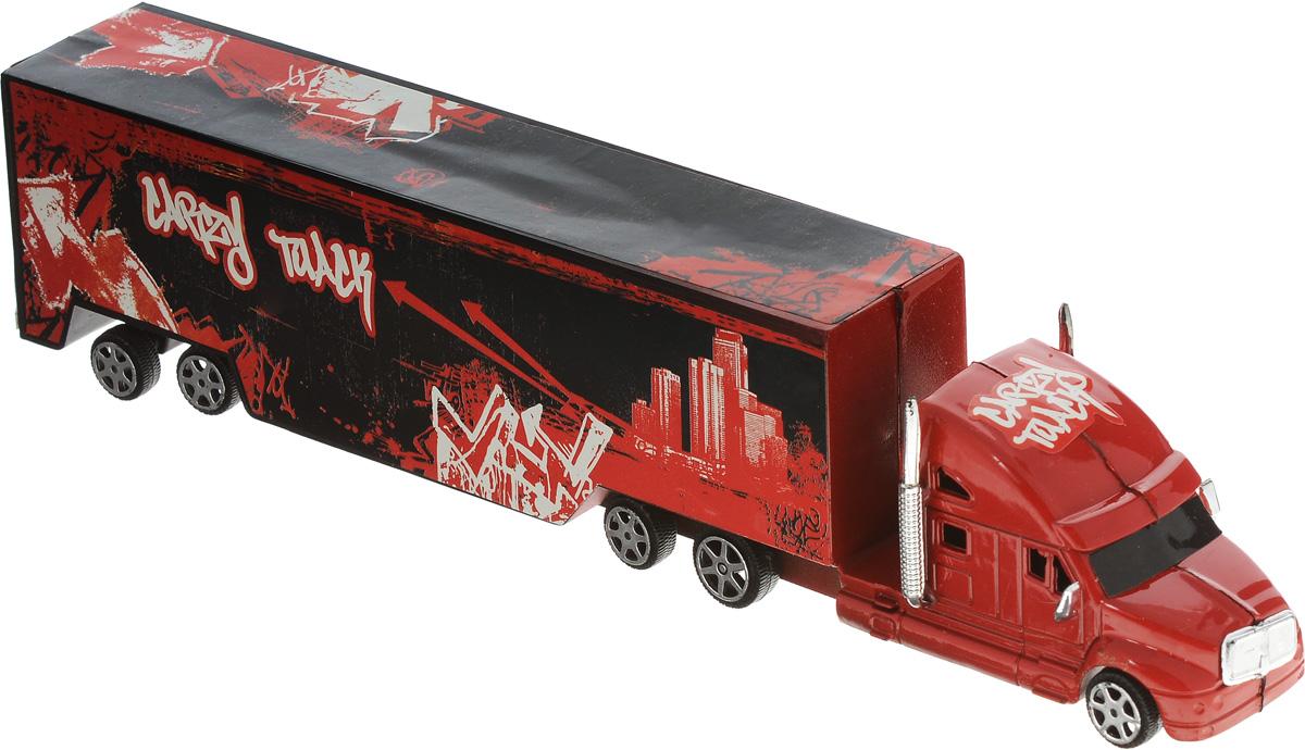 Junfa Toys Грузовик инерционный Road Big цвет черный красный