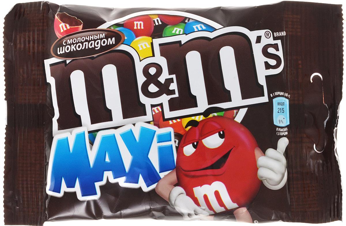 M&Ms Maxi драже с молочным шоколадом, 70 г