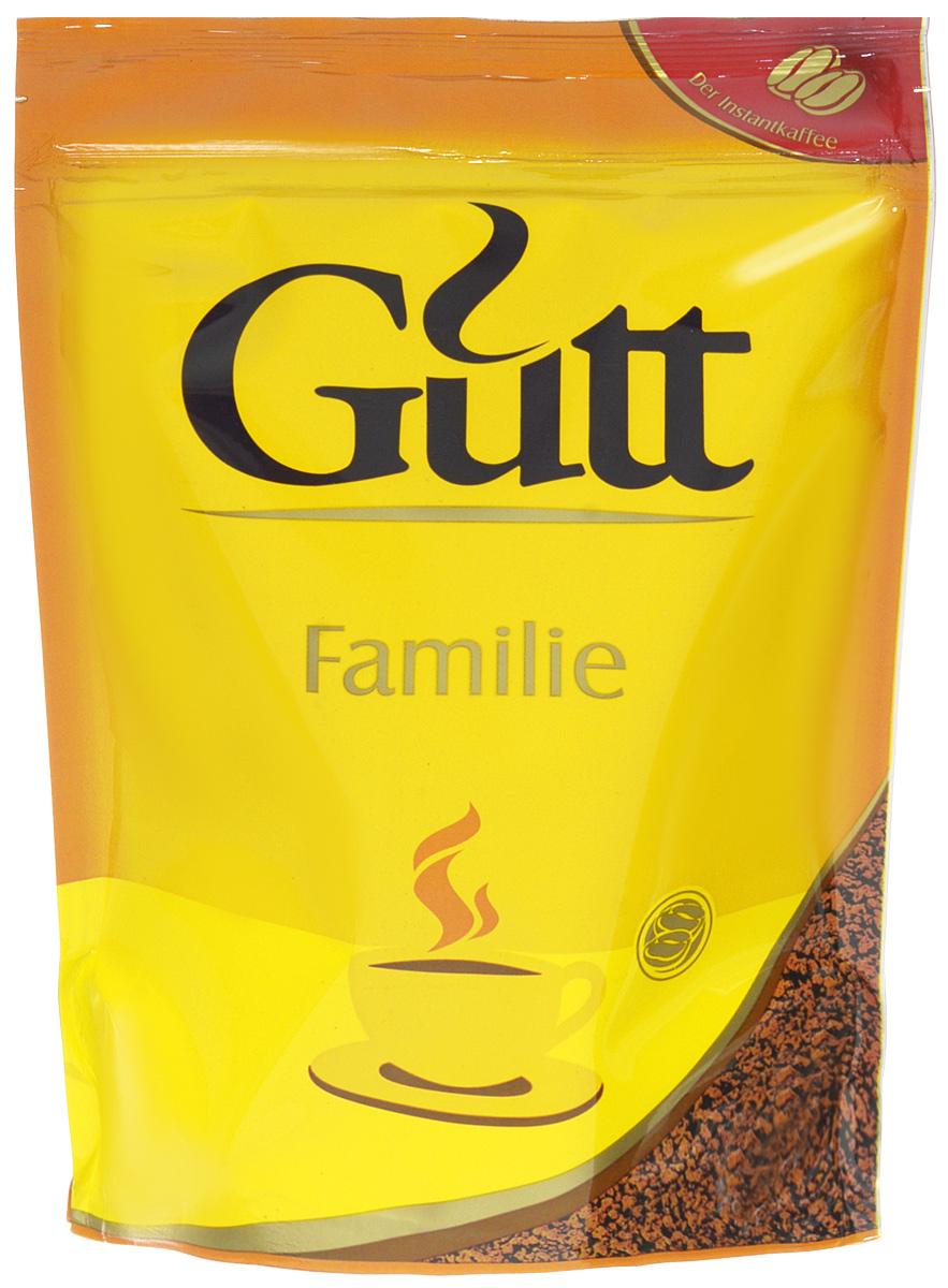 Gutt Familie кофе растворимый гранулированный, 75 г639Удовлетворить потребности всей семьи в качественном кофе призван Gutt Familie. Напиток изготовлен из традиционной смеси арабики и робусты, обжаренной на медленном огне.
