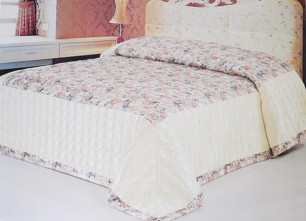 Покрывало стеганое Soft Line, 240 х 260 см. 0938809388Стеганое покрывало Soft Line выполнено из атласа (100% полиэстер). Такой материал очень прочен и долговечен, он практически не мнется и обладает элегантным блеском с яркими насыщенными цветами. Покрывало является неотъемлемым атрибутом дома, где царит уют и тепло. Яркое покрывало Soft Line с цветочным дизайном гармонично впишется в интерьер вашего дома и создаст атмосферу уюта и комфорта. Стеганое покрывало Soft Line - это такой подарок, который будет всегда актуален, особенно для ваших родных и близких, ведь вы дарите им частичку своего тепла. Изделие упаковано в подарочную коробку. Размер покрывала: 240 х 260 см.