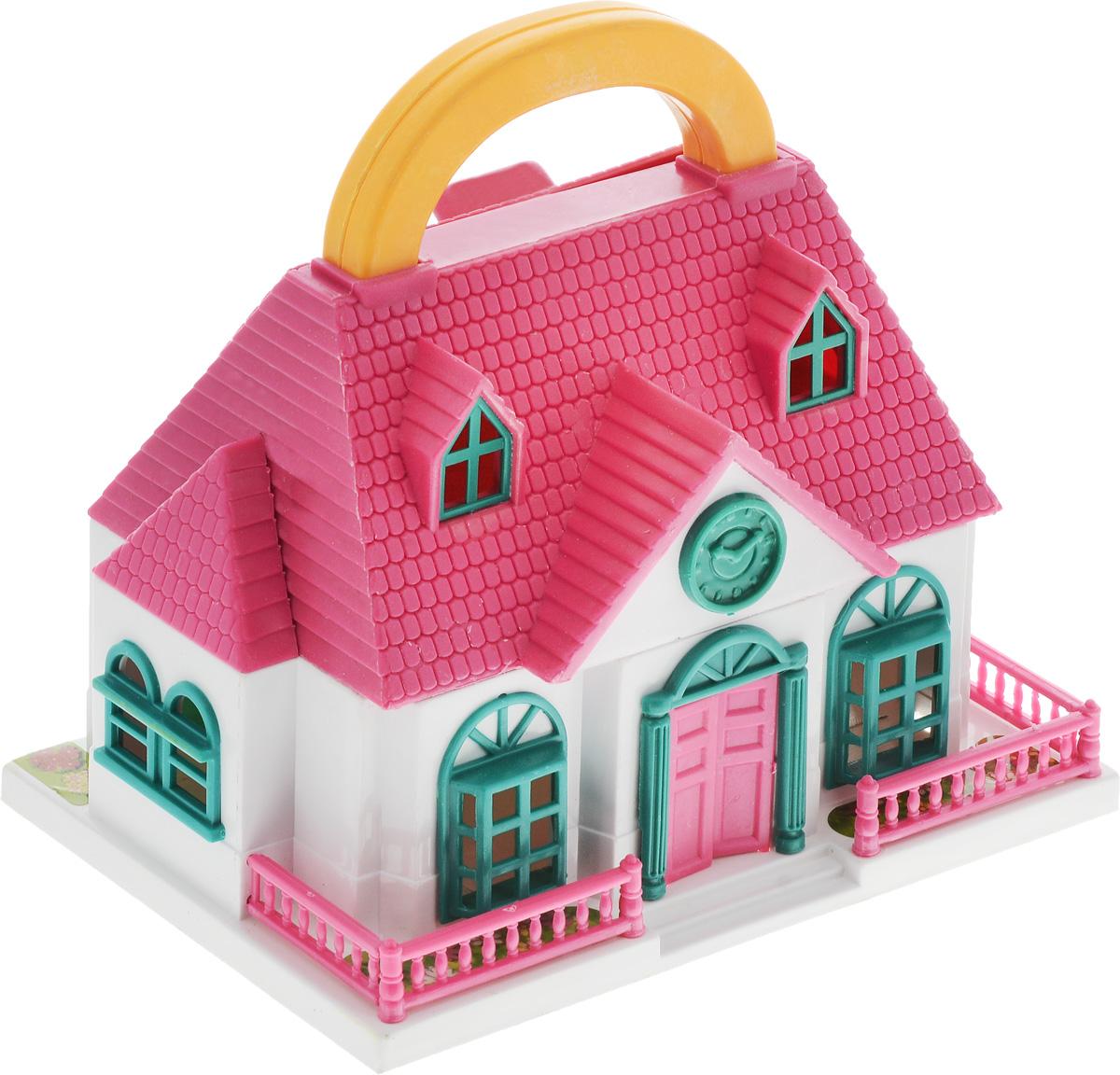 ABtoys Дом для кукол ШколаPT-00228_белый, розовыйШкола для кукол ABtoys с удобной ручкой для переноски просто необходима для веселой жизни куколок! Школа выполнена из прочного безопасного пластика. Дом имеет красивый фасад с часами, маленький заборчик и оснащен откидным балконом и садом. В наборе имеются две фигурки и множество аксессуаров, которыми можно обустроить школьный класс. Набор поможет детям представить себя в роли дизайнера, занимающегося обстановкой и декором помещения для любимой куколки, а также станет главным атрибутом для увлекательных сюжетно-ролевых игр. Такой набор непременно придется по душе вашему ребенку. Порадуйте свою принцессу таким замечательным подарком!