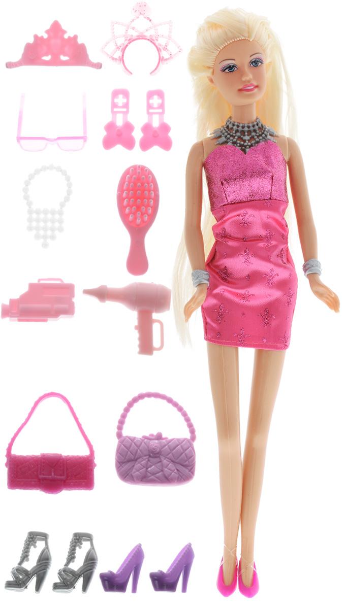 Defa Игровой набор с куклой Lucy Модница цвет одежды малиновый8233d_малиновыйКукла Defa из игрового набора Lucy Модница любит устраивать вечеринки и красиво наряжаться. Куколка одета в нарядное короткое платье с блестками, на ногах у неё - туфельки на высоких каблуках. Вашей дочурке непременно понравится расчесывать и заплетать длинные волосы куклы. В набор с куклой входит большое количество различных стильных аксессуаров - ожерелья, обувь, сумочки, солнечные очки, фен, расческа и заколочки. Играя с такой куклой, ваша девочка воспитает в себе только самые положительные качества. Кукла изготовлена из качественных материалов, у нее шикарные светлые волосы, которые можно расчесывать и делать множество стильных причесок. Игры с куклой способствуют эмоциональному развитию, помогают формировать воображение и художественный вкус, а также развивают в вашей малышке чувство ответственности и заботы. Великолепное качество исполнения делают эту куколку чудесным подарком к любому празднику.