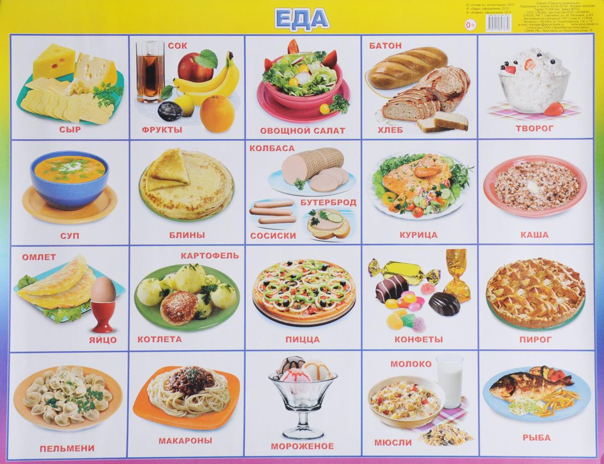 Алфея Обучающий плакат Еда
