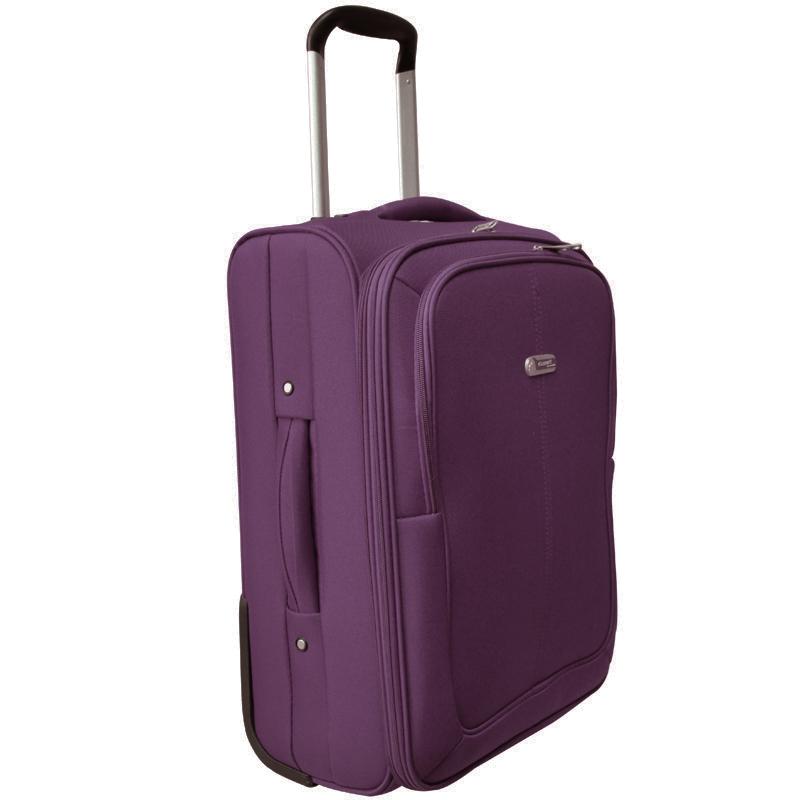 Чемодан-тележка Edmins, цвет: фиолетовый, 50х35х24см625 СТ720*9Чемодан-тележка с выдвижной ручкой 50 см. с расширением 5 см. Максимальная нагрузка 10 кг.