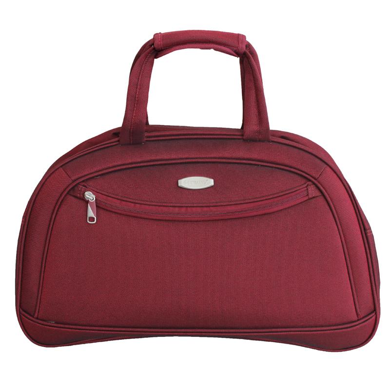 Дорожная сумка Edmins, цвет: бордовый, 50х33х20см213 НF 420*2Максимальная нагрузка 8 кг; используется, как ручная кладь;