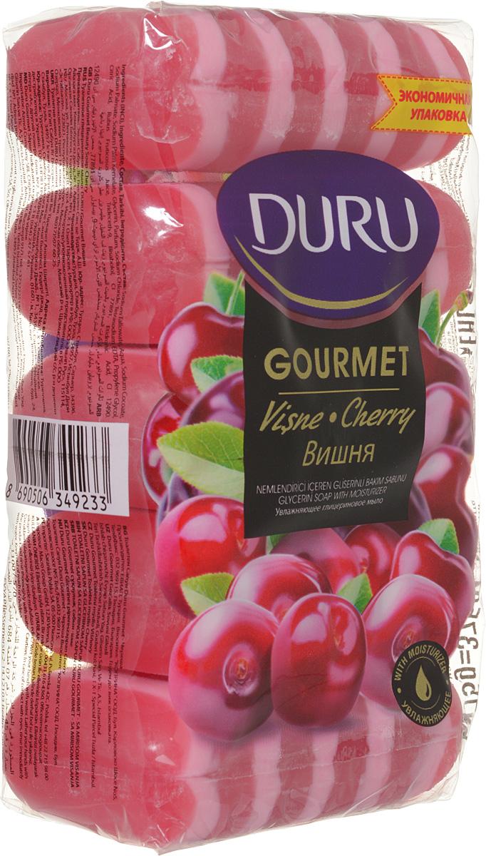 Duru GOURMET Мыло Вишневый пирог 5*75г