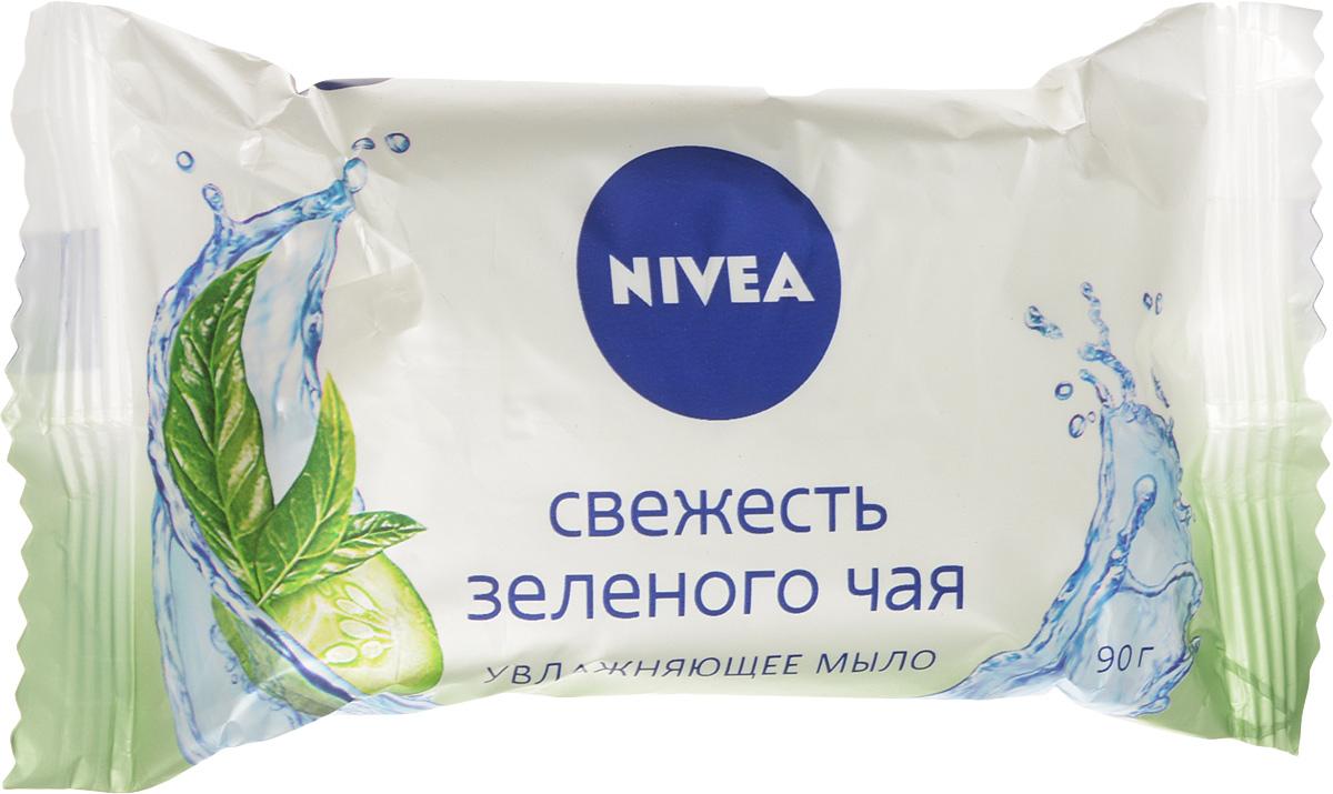 NIVEA Мыло-уход Свежесть зеленого чая 90 гр10024405Мыло Огурец и зеленый чай от NIVEA с натуральным экстрактом из огурца и тонким ароматом зеленого чая нежно очищает и освежает кожу. Товар сертифицирован.