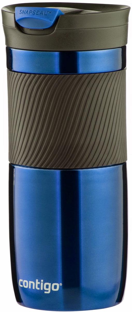 Термокружка Contigo Byron, цвет: синий, 470 млcontigo0547Contigo Byron – термокружка, изготовленная из нержавеющей стали, предоставляет максимум комфорта при питье во время ходьбы. Вакуумная изоляция сохраняет напитки горячими на протяжении 6 часов, холодными – около 12. Особенности: - цвет: насыщенный синий ; - можно мыть в посудомоечной машине; - запатентованная технология SnapSeal обеспечивает 100% защиту от влаги и герметичность; - элегантный и практичный дизайн подходит для многих автомобильных подстаканников; - благодаря всего одному нажатию на кнопку, вы с легкостью насладитесь своим напитком; - термокружка Contigo Byron изготовлена из материалов, одобренных здравоохранительными органами. - объем: 470 мл.