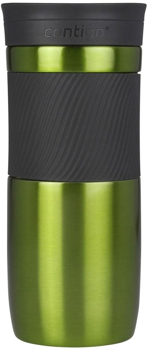 Термокружка Contigo Byron, цвет: зеленый, 470 млcontigo0548Contigo Byron – термокружка, изготовленная из нержавеющей стали, предоставляет максимум комфорта при питье во время ходьбы. Вакуумная изоляция сохраняет напитки горячими на протяжении 6 часов, холодными – около 12. Особенности: - цвет: зеленый; - можно мыть в посудомоечной машине; - запатентованная технология SnapSeal обеспечивает 100% защиту от влаги и герметичность; - элегантный и практичный дизайн подходит для многих автомобильных подстаканников; - благодаря всего одному нажатию на кнопку, вы с легкостью насладитесь своим напитком; - термокружка Contigo Byron изготовлена из материалов, одобренных здравоохранительными органами. - объем: 470 мл.