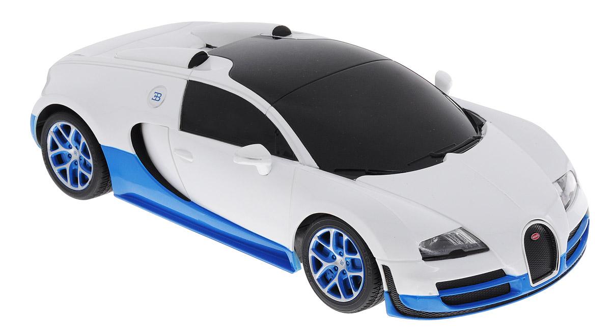 Rastar Радиоуправляемая модель Bugatti Veyron 16.4 Grand Sport Vitesse цвет белый синий масштаб 1:18