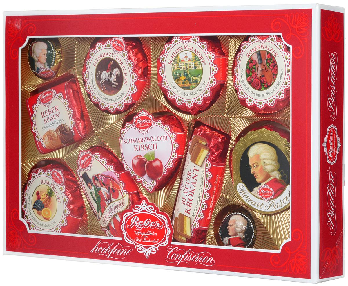 Reber Mozart подарочный набор шоколадных конфет, 380 г (коробка с окном) 1410102
