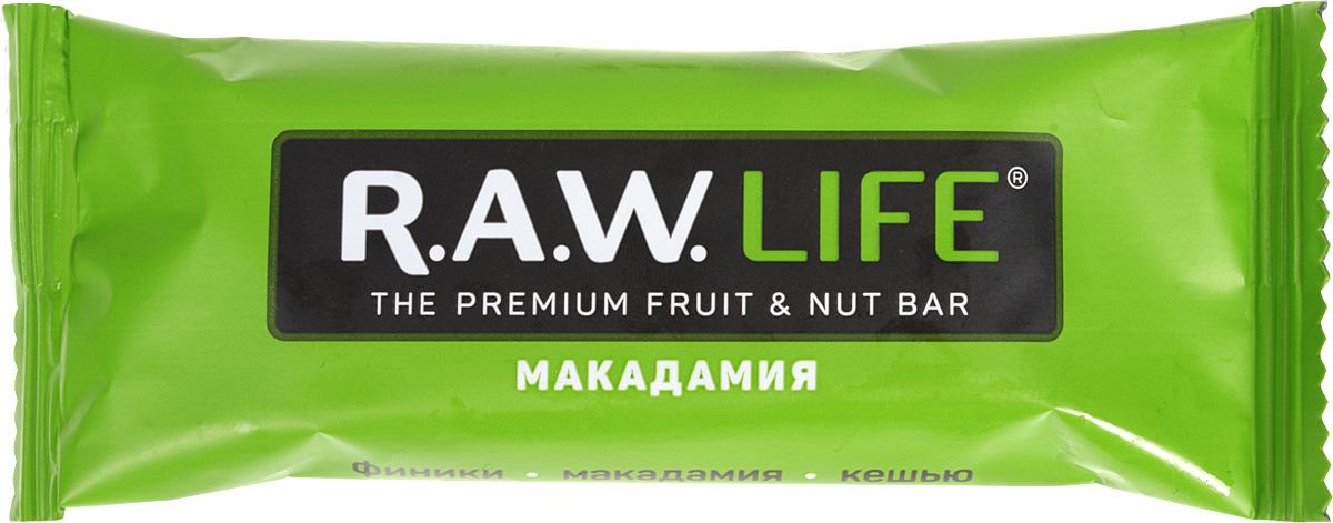 RAWLife Макадамия батончик орехово-фруктовый, 47 г
