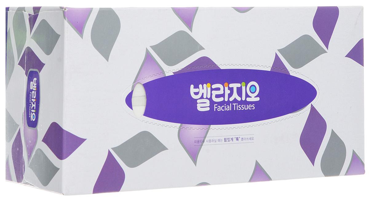 Monalisa Салфетки для лица Bellagio 180шт, цвет: фиолетовый, серый