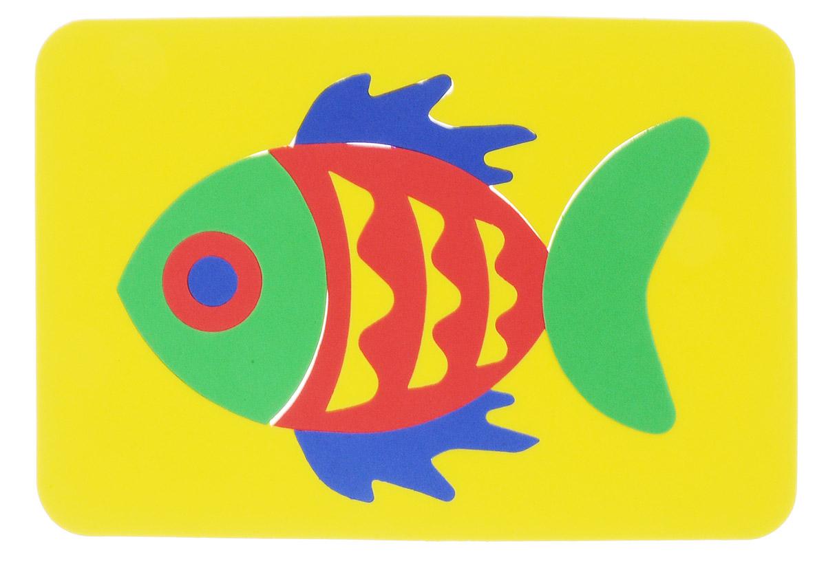 Август Пазл для малышей Рыбка цвет основы желтый27-2013_желтыйПазл для малышей Август Рыбка выполнен из мягкого полимера, который дает юному конструктору новые удивительные возможности в игре: детали мозаики гнутся, но не ломаются, их всегда можно состыковать. Пазл представляет собой основу, в которой из разноцветных элементов собирается рыбка. Ваш ребенок сможет собрать его и в ванной. Элементы мозаики можно намочить, благодаря чему они будут хорошо прилипать к стене в ванной комнате. Такая игрушка развивает пространственное и логическое мышление, знакомит с формами и цветом предмета.