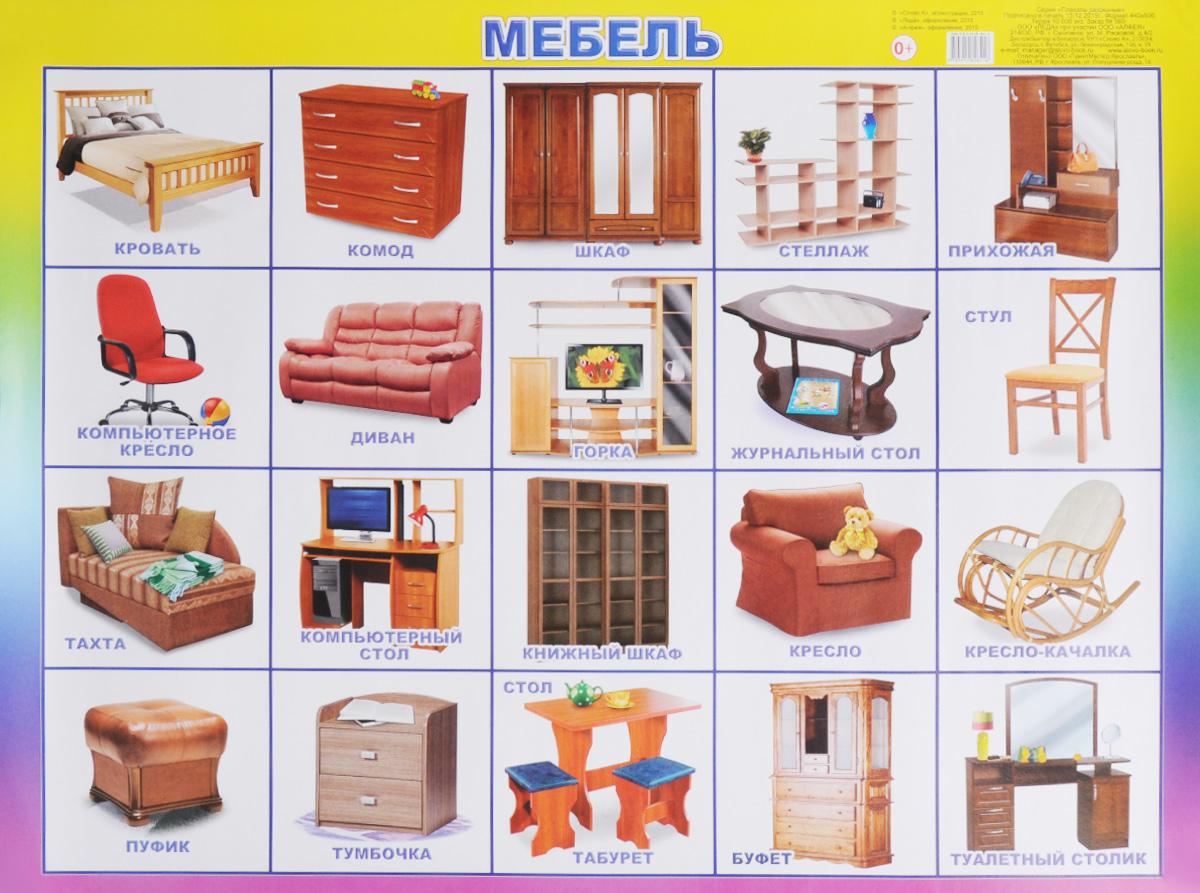 Алфея Обучающий плакат Мебель