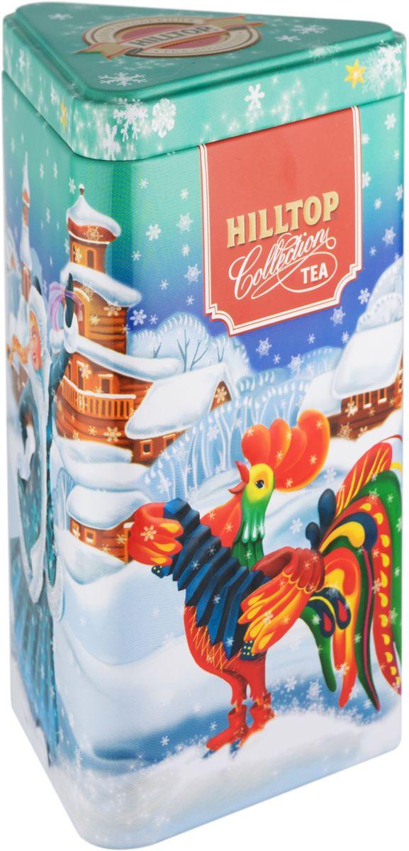 Hilltop Веселые гуляния Королевское золото черный листовой чай, 80 г4607099306905Hilltop Королевское золото – крупнолистовой терпкий чёрный чай стандарта Супер Пеко с лучших плантаций острова Цейлон. Поставляется в красочной подарочной упаковке. Отлично подойдет в качестве подарка на новогодние праздники.